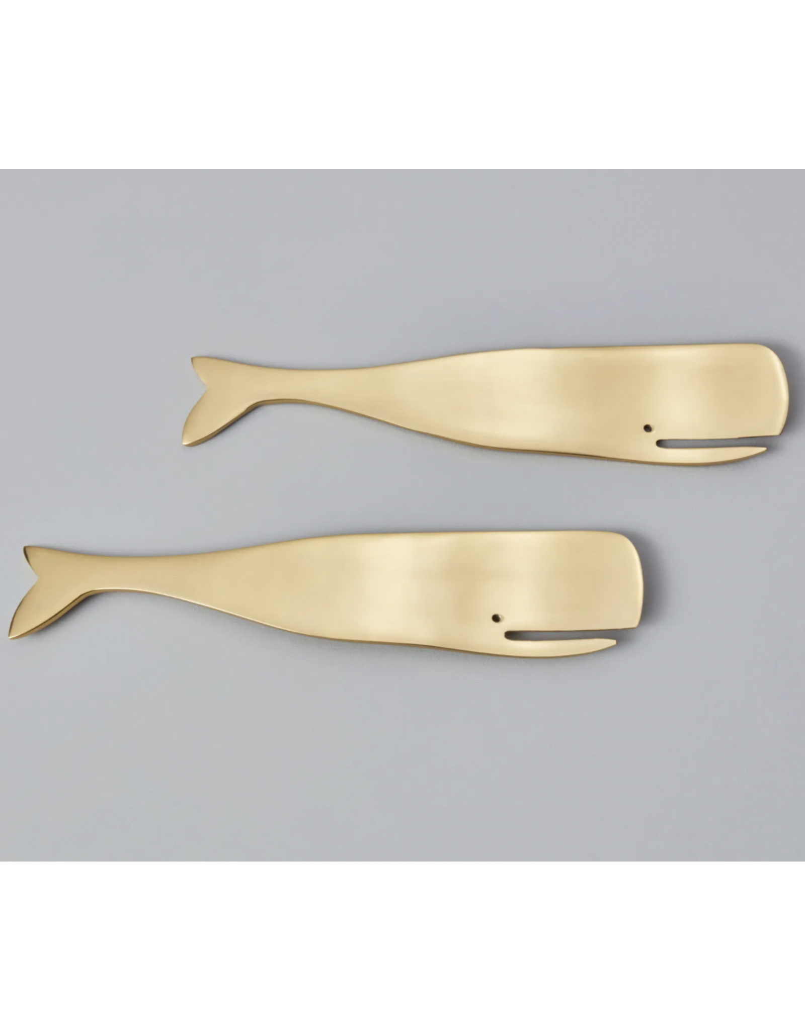 Whale Serving Set in Gold