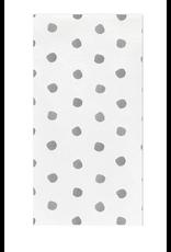 Vietri Light Gray Dot Guest Towels