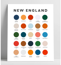 Lunch City Studio New England Color Palette Print by Lunch City Studio