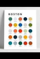 Lunch City Studio Boston Color Palette Print by Lunch City Studio