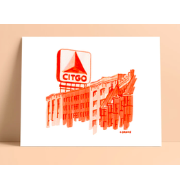 Lunch City Studio Boston Citgo Print by Lunch City Studio