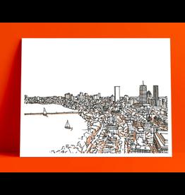 Lunch City Studio Boston Back Bay Print by Lunch City Studio