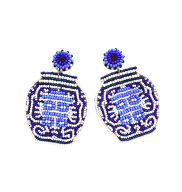 Beth Ladd Collection Ginger Jar Earrings by Beth Ladd