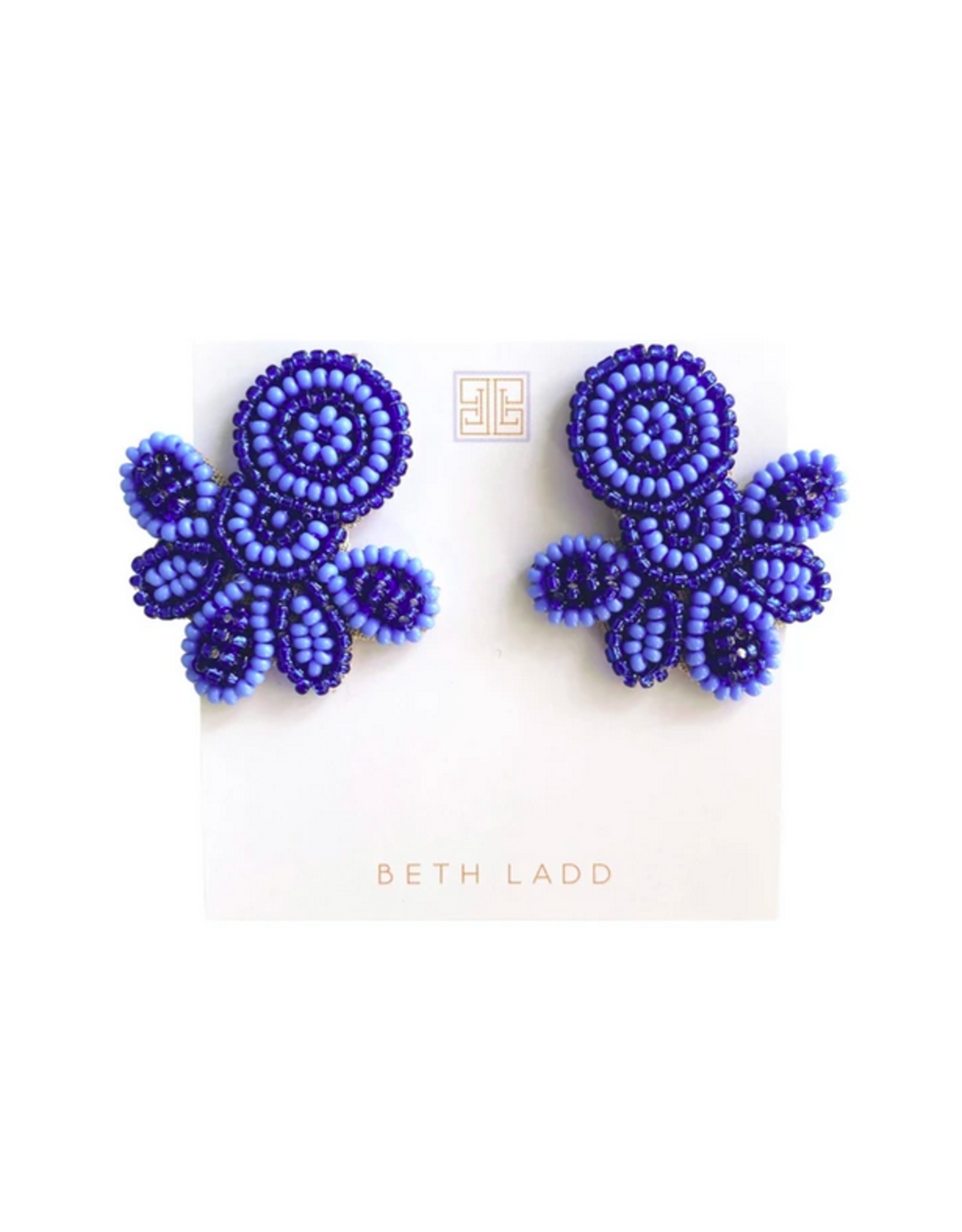 Beth Ladd Collection Love Studs in Navy/Periwinkle by Beth Ladd