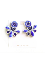 Beth Ladd Collection Love Studs in Navy/Periwinkle/White by Beth Ladd