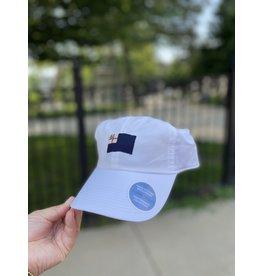 Smathers & Branson White Bunker Hill Performance Flag Hat