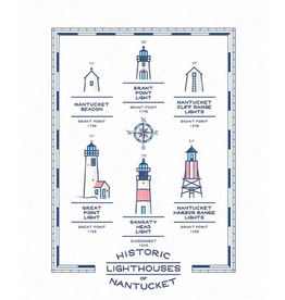 Casey Circle Historic Lighthouses of Nantucket Print by Casey Circle