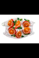 Oranges Beaded Face Mask