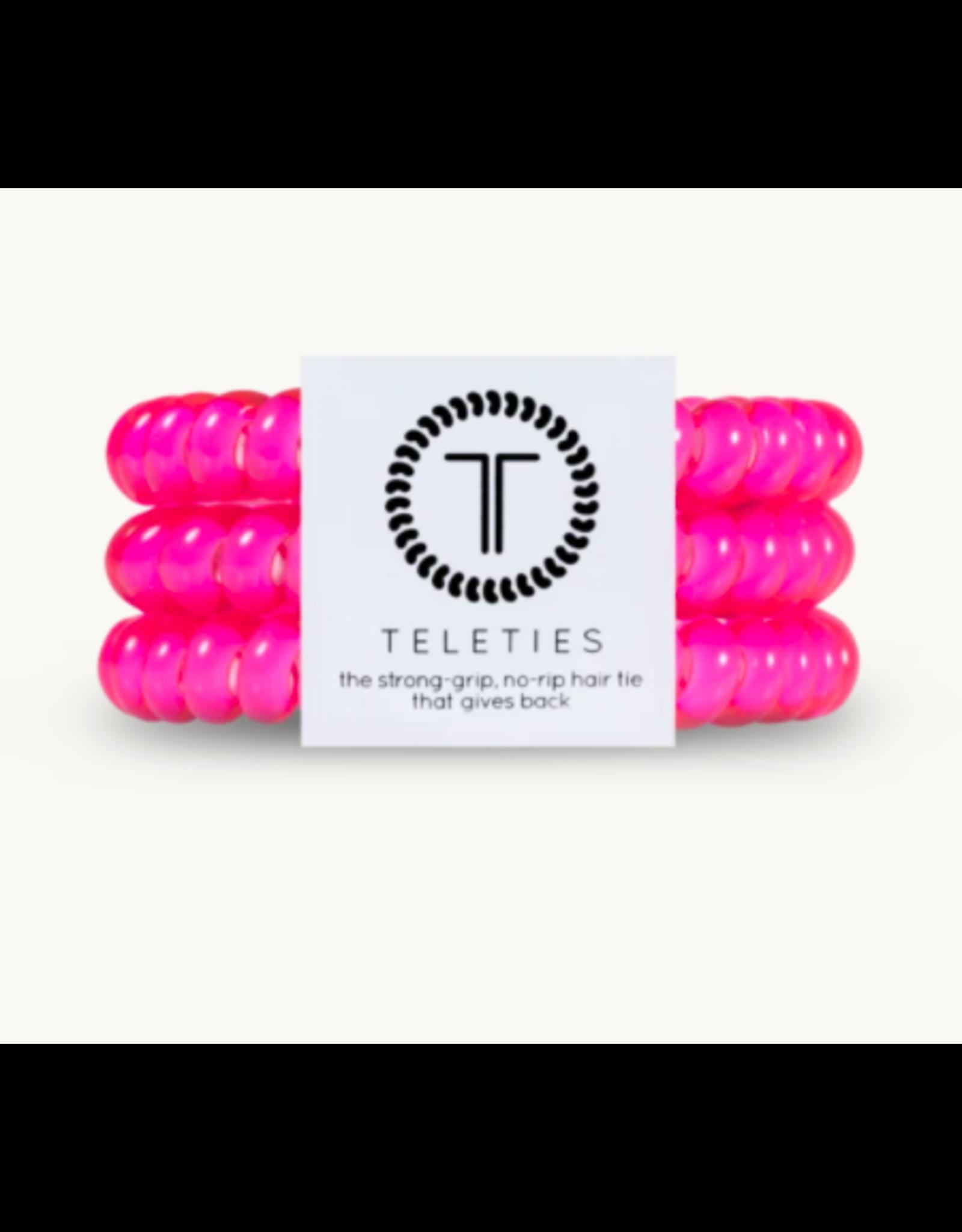 Teleties Small 3-Pack Hot Pink Teleties