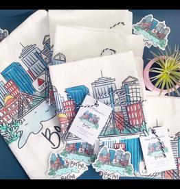 Anna Whitham Boston Tea Towel by Anna Whitham