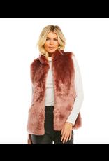 Donna Salyers Fabulous Furs Mink Couture Faux Fur Hook Vest in Rose Quartz Size Small