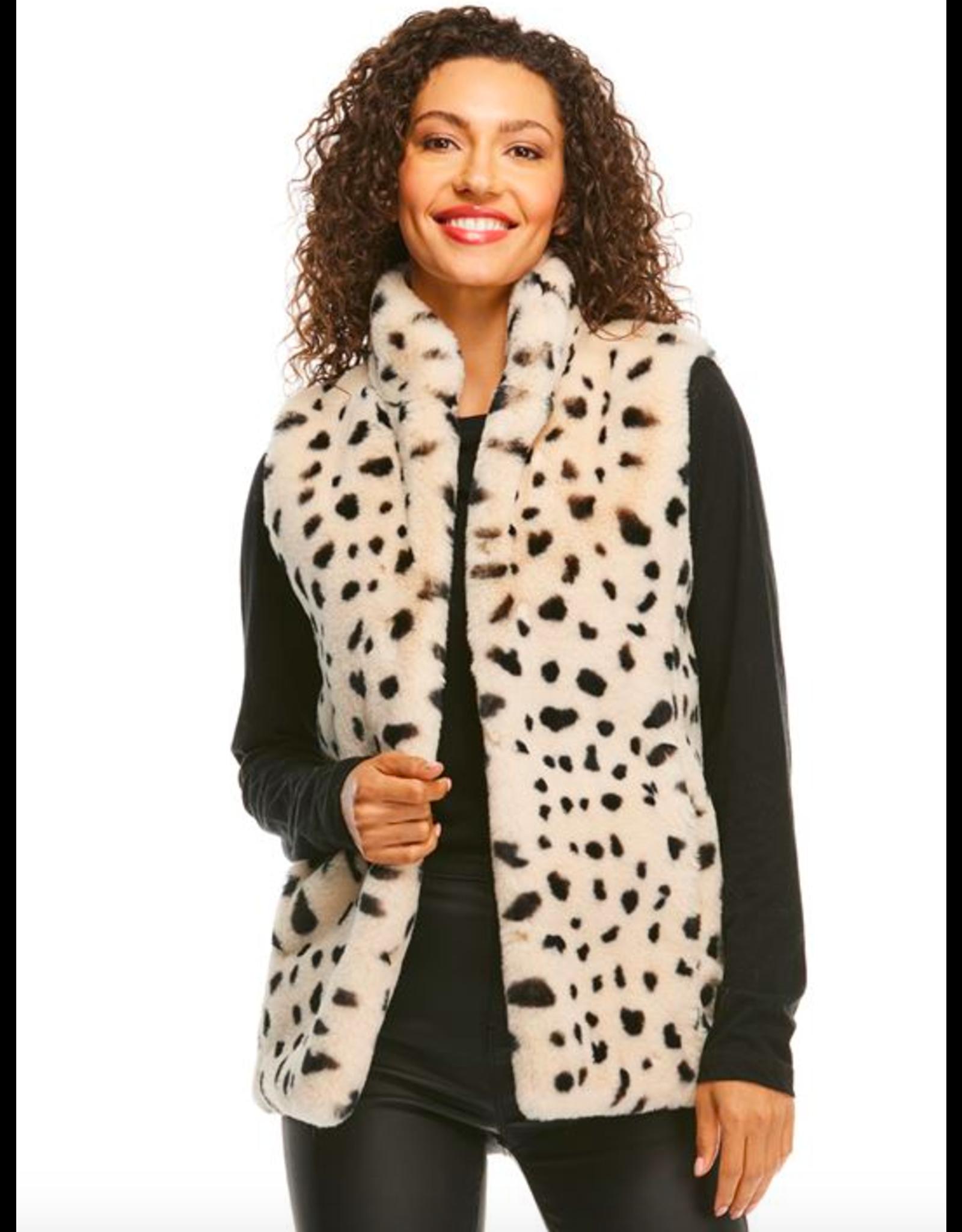 Donna Salyers Fabulous Furs Wild Cheetah Faux Fur BFF Vest Size Small