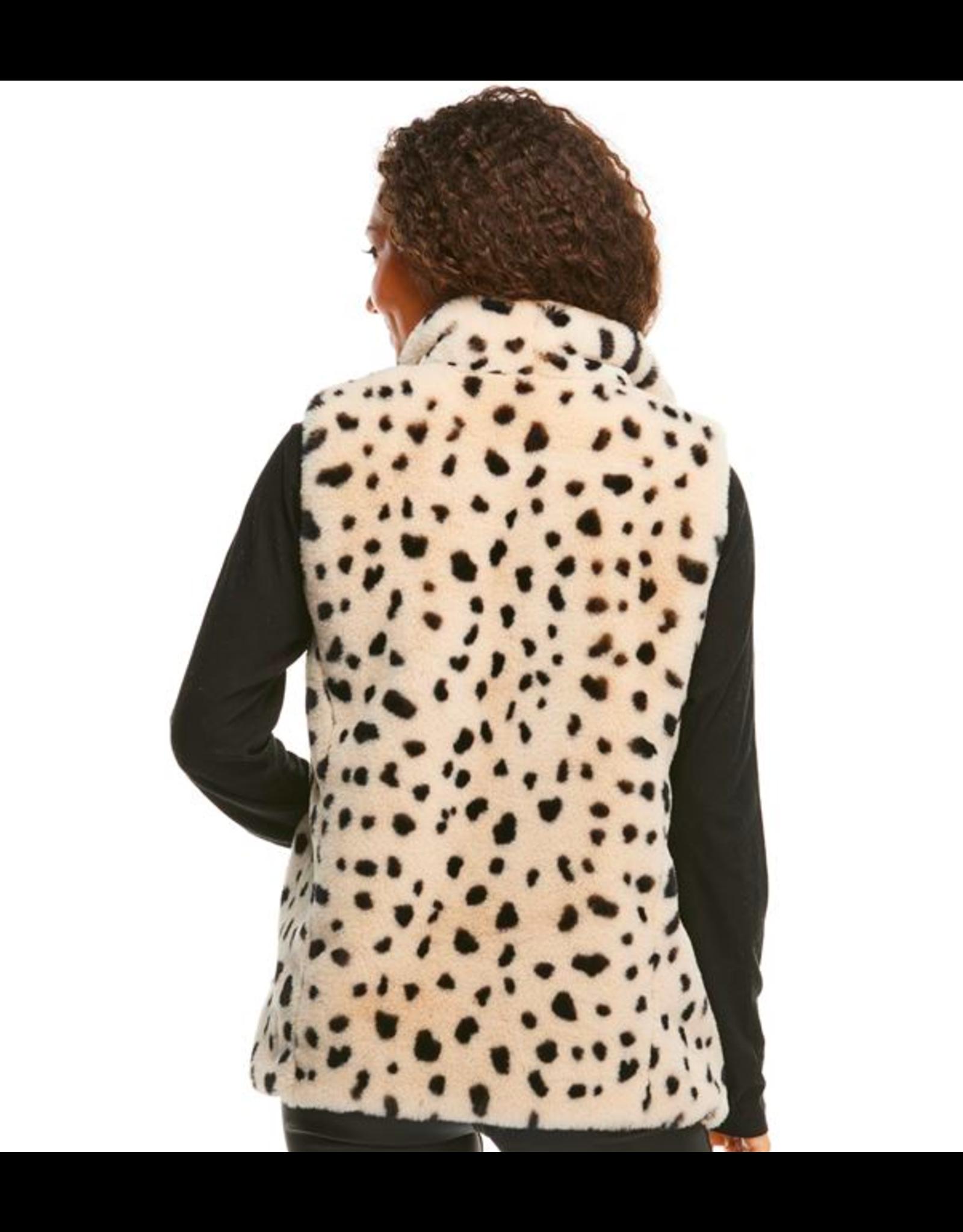 Donna Salyers Fabulous Furs Wild Cheetah Faux Fur BFF Vest Size Large