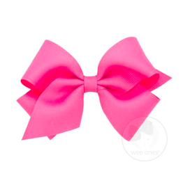 Wee Ones Wee Ones Small Bow in Hot Pink