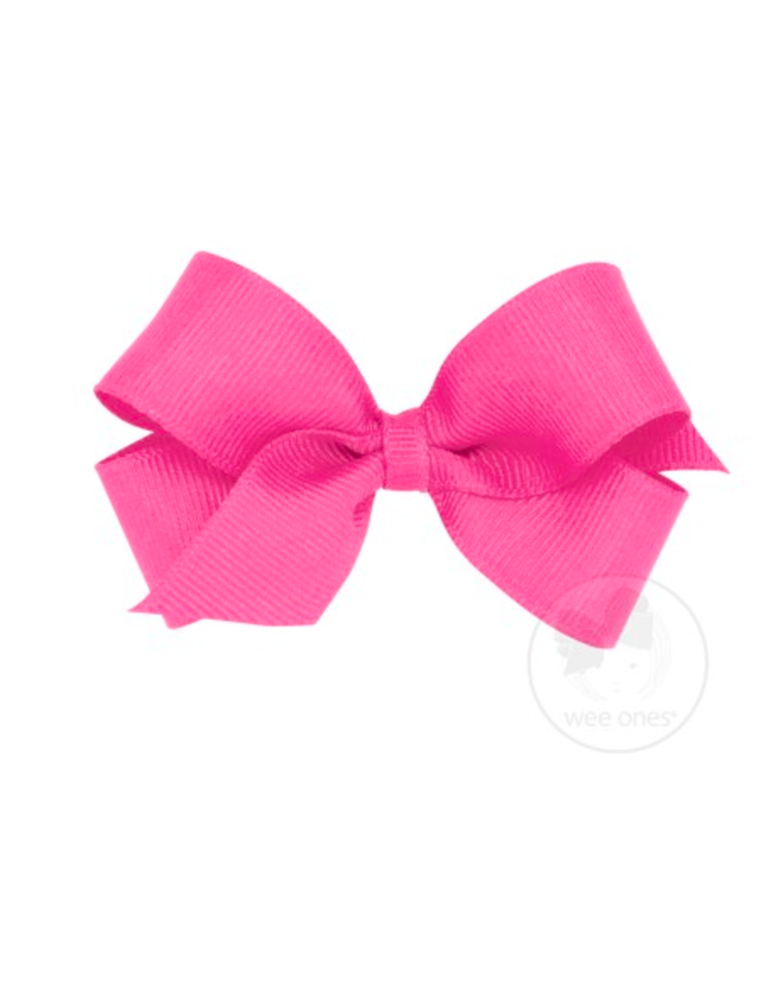 Wee Ones Wee Ones Mini Bow in Hot Pink