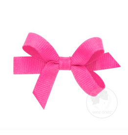 Wee Ones Wee Ones Tiny Bow in Hot Pink