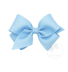 Wee Ones Wee Ones Small Bow in Light Blue