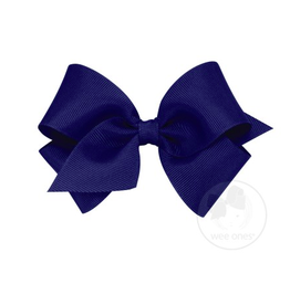 Wee Ones Wee Ones Small Bow in Light Navy