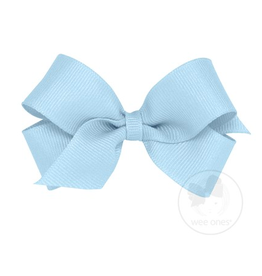 Wee Ones Wee Ones Mini Bow in Light Blue