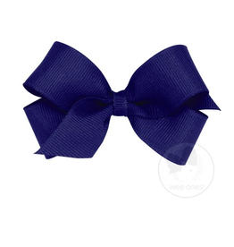 Wee Ones Wee Ones Mini Bow in Light Navy