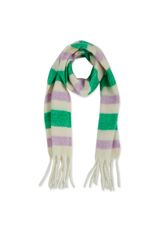 South Plaid Fuzzy Fringe Scarf in Green