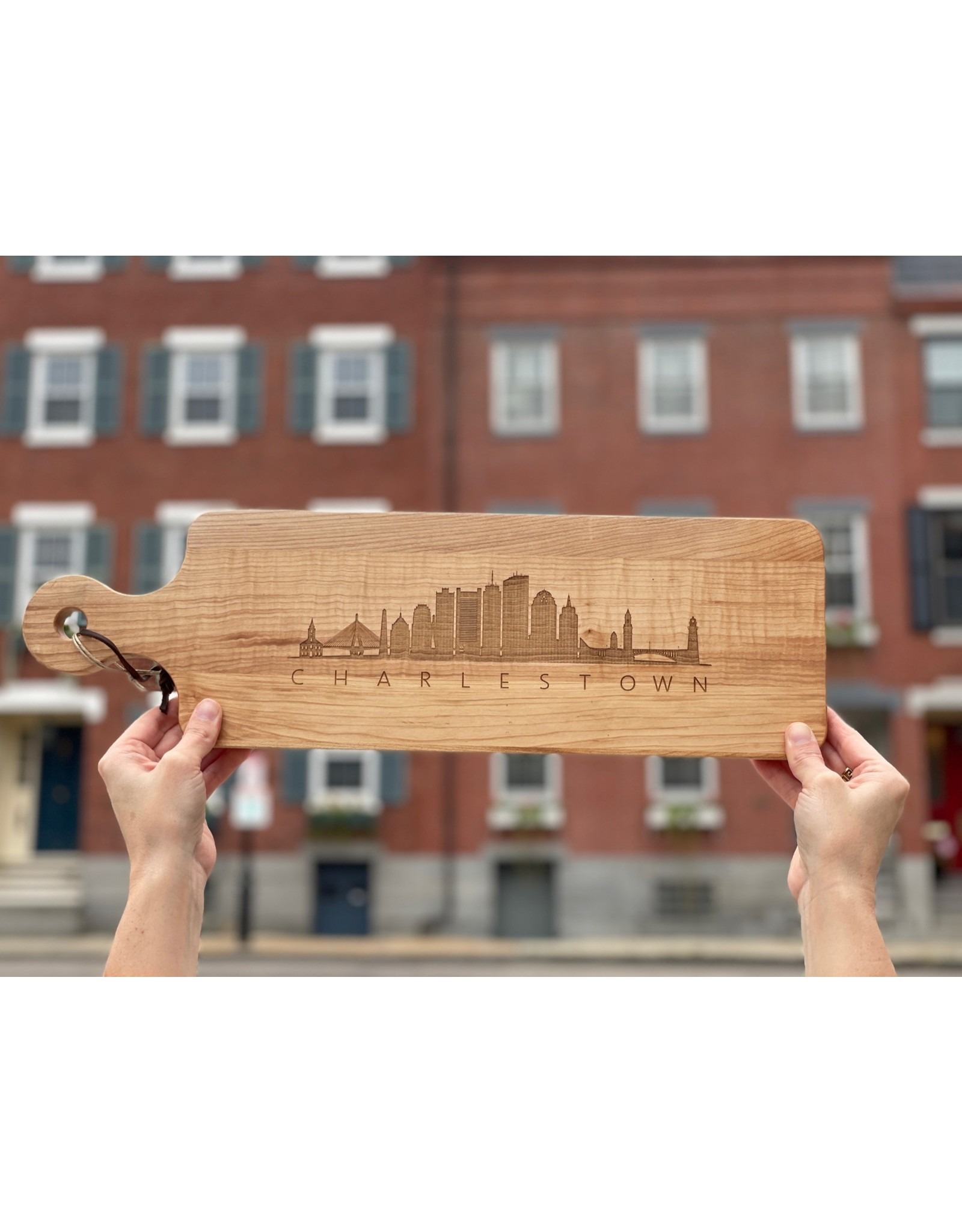 Maple Leaf at Home Skyline with Charlestown 20x6 Handled Maple Bread Board