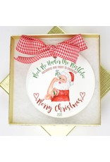 Dishique Vaccinated Santa 2021 Ornament