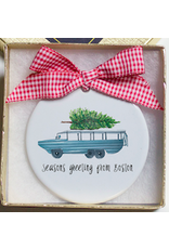 Dishique Duck Boat With Tree Ornament