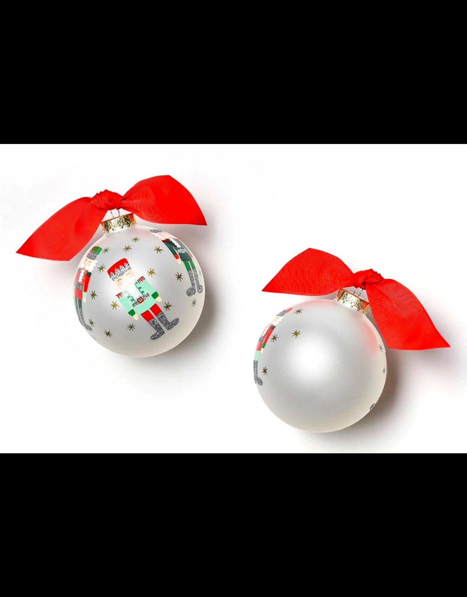 Coton Colors Nutcracker Glass Ornament