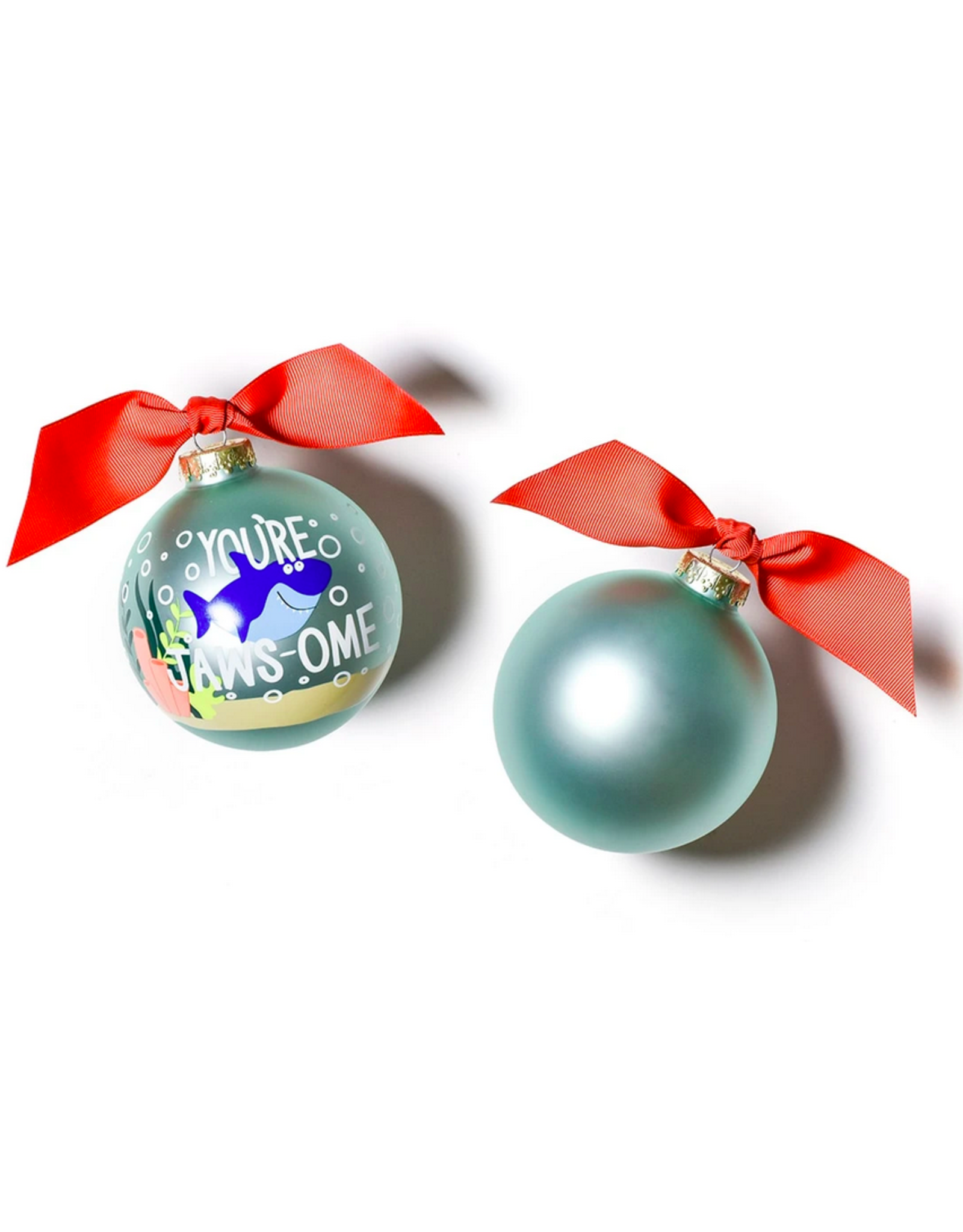 Coton Colors Shark Glass Ornament