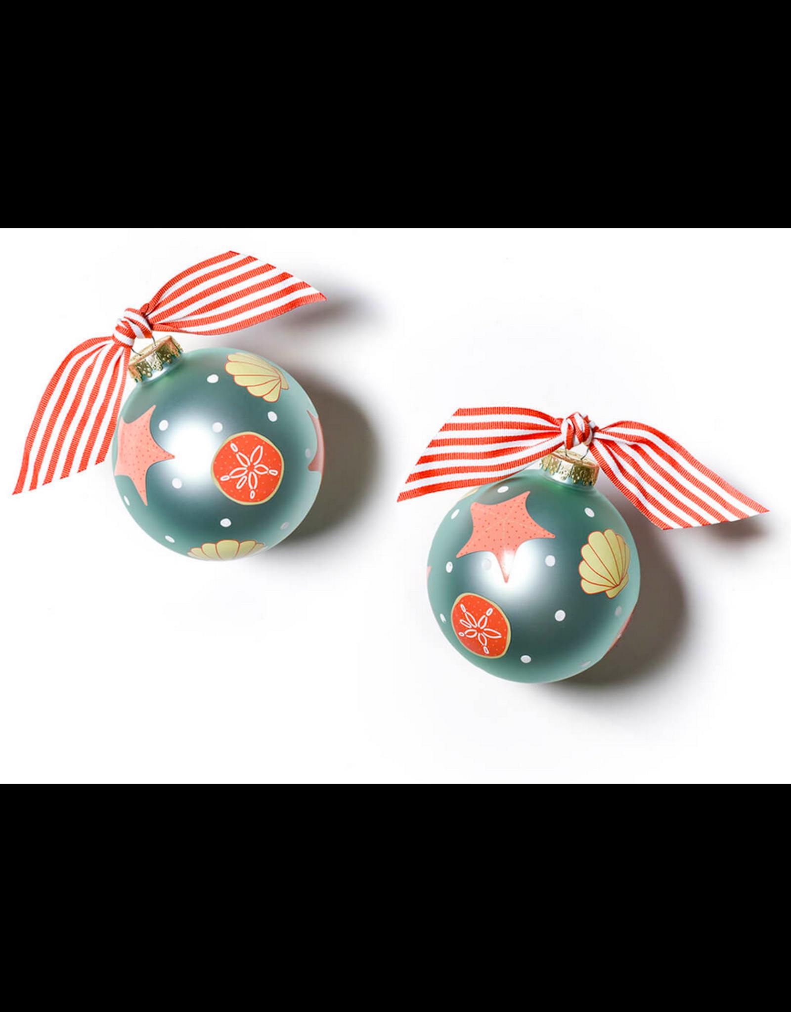 Coton Colors Shells Glass Ornament