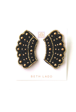 Beth Ladd Collection RBG Earrings in Black and Gold by Beth Ladd