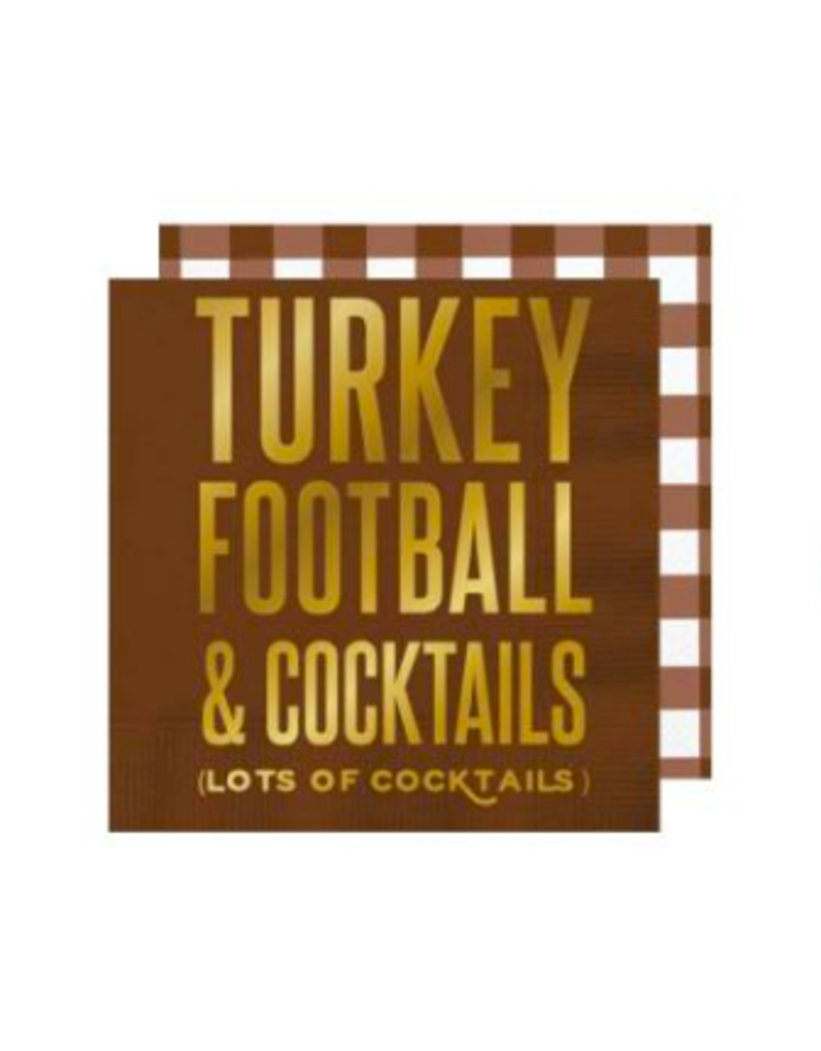 Slant Collections Turkey Football & Cocktails Napkins