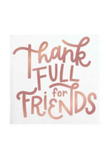 Slant Collections Thankfull Friends Cocktail Napkins
