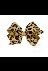 Wee Ones Wee Ones Medium Bow in Leopard Print