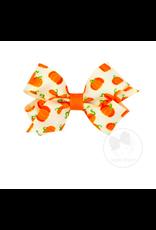 Wee Ones Wee Ones Mini Bow in Ivory Pumpkin Print