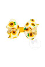 Wee Ones Wee Ones Mini Bow in Sunflower Print