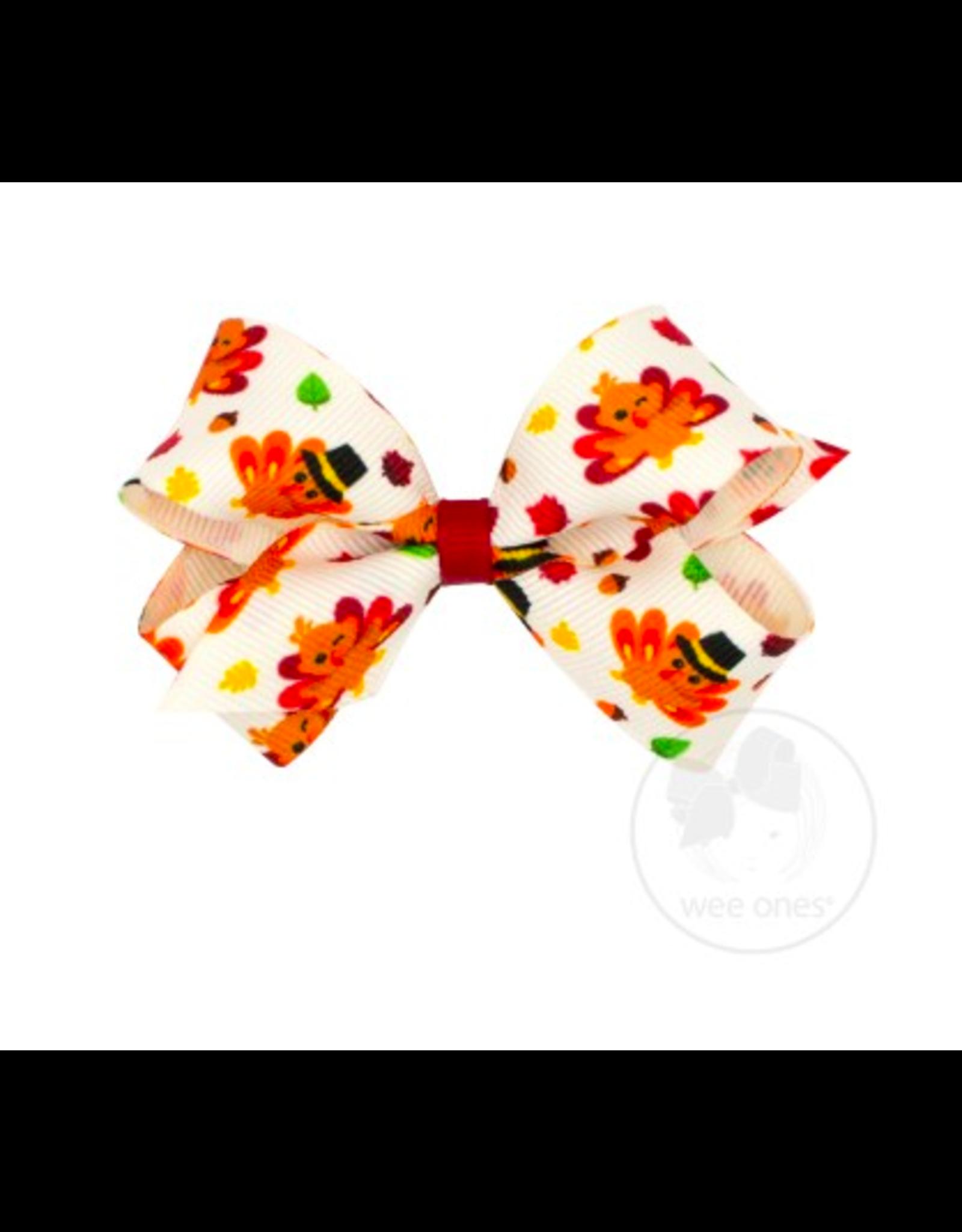 Wee Ones Wee Ones Mini Bow in Turkey Print