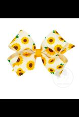 Wee Ones Wee Ones Medium Bow in Sunflower Print