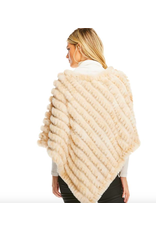 Donna Salyers Fabulous Furs Knitted Fur Poncho in Sand