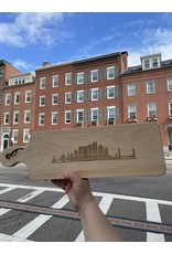 Maple Leaf at Home Boston Skyline with 20x6 Handled Maple Bread Board