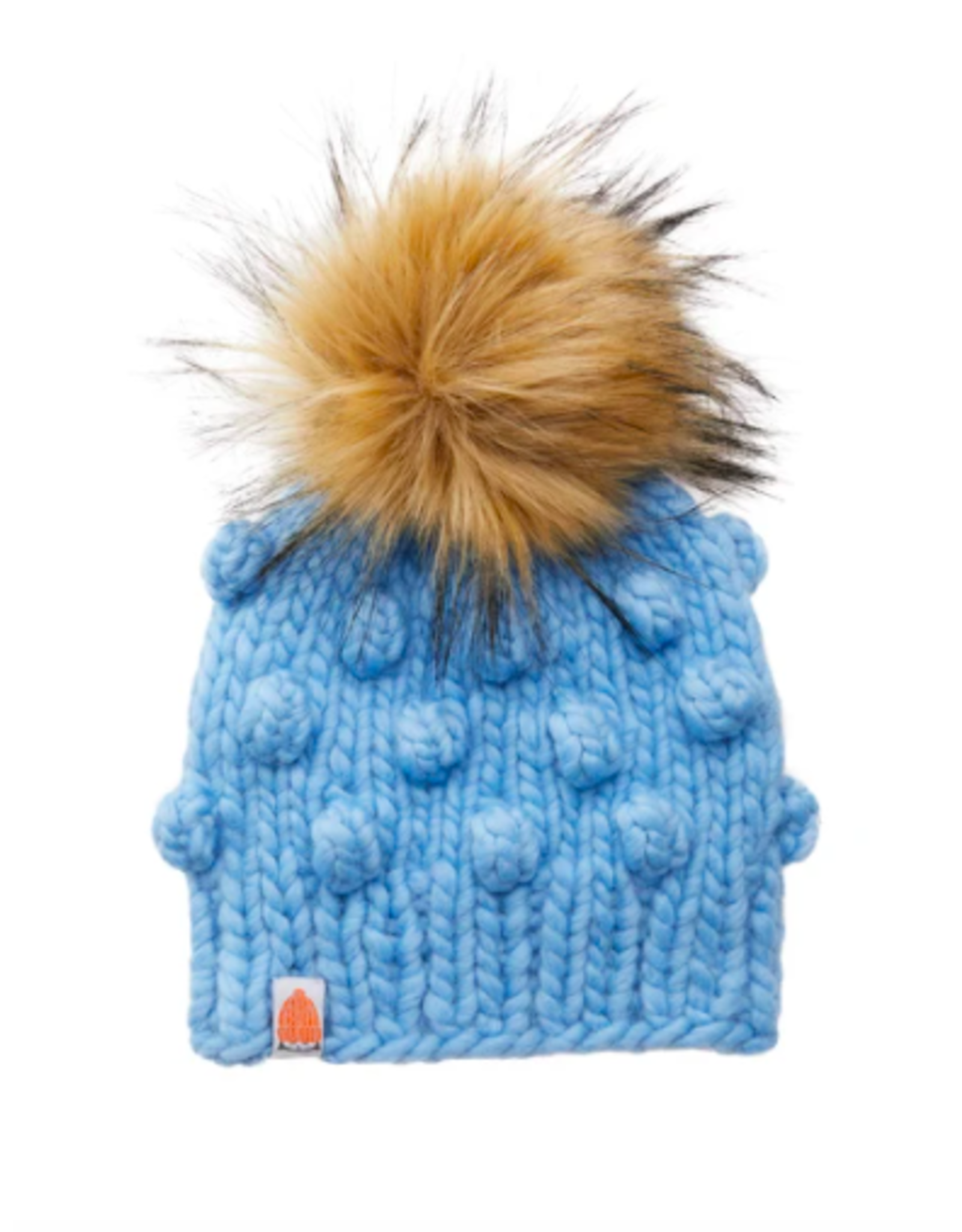 Shit That I Knit Lil Campbell Beanie in Sky Blue