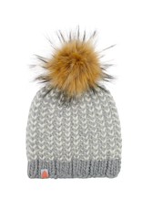 Shit That I Knit Foster Beanie in Heather Gray