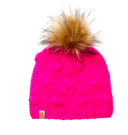 Shit That I Knit Campbell Beanie in Hot Pink