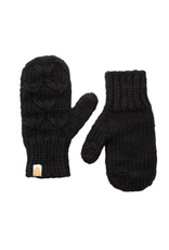 Shit That I Knit Motley Mittens in Black