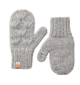 Shit That I Knit Motley Mittens in Heather Grey