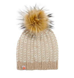 Shit That I Knit Foster Beanie in Camel
