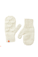 Shit That I Knit Motley Mittens in White
