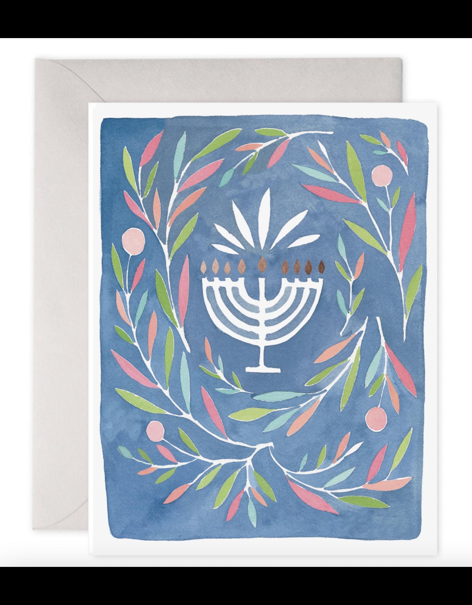 E. Frances Peaceful Menorah Card