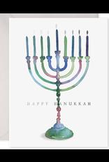 E. Frances Colorful Menorah Card